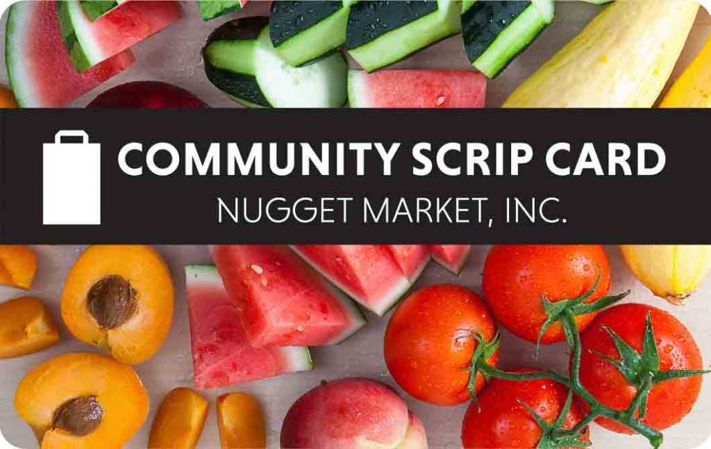 Fundraising with Nugget Market Community Scrip Card
